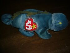 New Ty Rare And Retired Beanie Babies Iggy The Iguana Lizard With Spine Green