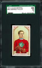 1911-12 C55 Imperial Tobacco #44 George Poulin.  SGC 84 NM. Original Canadien!