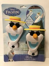 Disney Frozen Olaf Boca Clips 2 for Chair Keep Beach Pool Towel in Place New