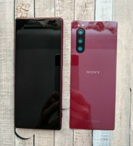 Sony Xperia 5 J8210 BURGUNDY Lcd Display Touch Screen Digitiser Frame Cover