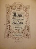 Friedrich von Flotow : Martha -  Klavierauszug (gebunden)