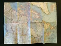 Vintage 1961 National Geographic Society Map of Canada