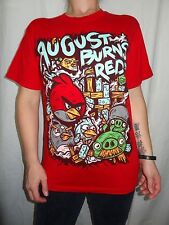 August Burns Red Angry Birds Style 100% Short Sleeve Cotton Tee Size Men's M