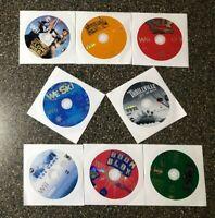 Nintendo Wii Bundle of 8 Fun Games - Boom Blox - Wipeout  - TMNT - We Ski - MORE