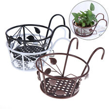 Balcony Flower Rack European Style Iron Railings Flower Pot Holder Basin S.RI