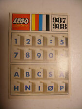 70' RARE anciene notice ORIGINALE instruction manual Lego System Legoland n°987