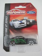 MAJORETTE FORD MUSTANG GT SERIES BLACK /GREEN LIVERY CAR 204C 1:64 2019 NEW