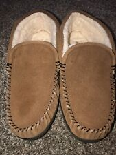 STAHEEKUM slippers Mens Size 13 Trapper Brown moccasins slip on Suede