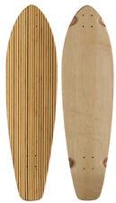 BAMBOO LONGBOARD SKATEBOARD Deck KICKTAIL Inlay Stripes 9.75 in x 36.5 in