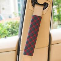 2016 Safety Car Seat Belt Strap PU Leather Shoulder Soft Cushion Pads Cover DD
