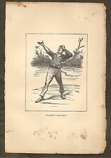 VINTAGE ILLUSTRATION - THE ADVENTURES OF HUCK FINN - HAMLET'S SOLILOQUY
