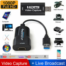 1080P 4K HDMI to USB 2.0 3.0 Video Capture Card Game Audio Video Live Streaming