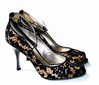 NEW With Box 100% Authentic DOLCE&GABBANA LACE HEELS PUMPS WOMANS SHOES 37 US6.5