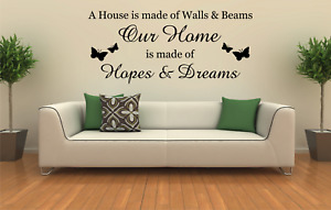 FAMILY HOME WALL ART QUOTE STICKER QUOTE WORDS PHRASES DECOR LOUNGE HALLWAY