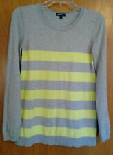 Medium M Gap maternity grey and green stripe sweater long sleeved cute expecting
