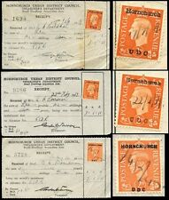 GB KG6 COMMERCIAL OVERPRINTS 1939-43 HORNCHURCH UDC 3 DIFFERENT TYPES...L4