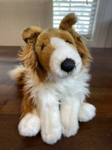 """Retired COLLIE Dog 12"""" Realistic Plush Purebred Collection Toys R Us w Tags! HTF"""