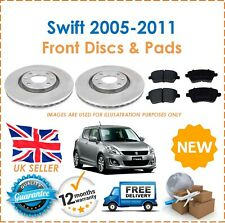 For Suzuki Swift 2005-2011 Two Front Vented 252MM Brake Discs & Brake Pads Set