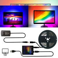 LED WS2812B Striplight DIY HDTV TV Desktop PC Screen USB Streifen Set Backlight