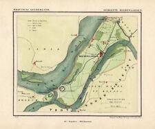 ANTIQUE MAP-HOLLAND-HEEREWAARDEN-GELDERLAND-KUYPER-1865