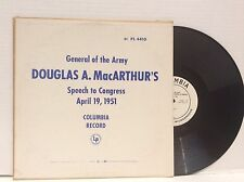 Douglas A. MacArthur'S Speech To Congress April 19, 1951 vinyl Lp Mint