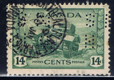 Canada #O259(1) PERFIN 1942 14 ct RAM TANK OFFICIAL OHMS MONTREAL PLACE D'ARMES