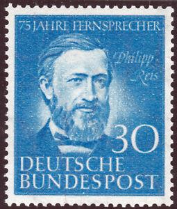 Bundesrepublik 161 **  75 Jahre Telefon in Deutschland, Philipp Reis, postfrisch