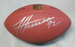 James Harrison, Pgh Steelers, Signed Wilson, Full Size Football, Full Name