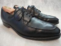 POLO RAPLH LAUREN Black Leather Split Toe Benchmade England Blucher Shoes 9.5 D