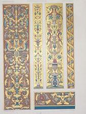 RENAISSANCE Miniatures Manuscrits RACINET LITHOGRAPHIE Art Decoratif Deco 1870