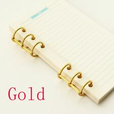 2 Pcs/pack 4 Colors A5 A6 Notebook General Stainless Steel Binding Rings Gold