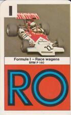 Kwartet kaart / Quartet Card / Spielkarte Formule 1 Race Cars BRM P 160