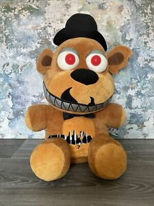 "Five Nights At Freddys FNAF - NIGHTMARE FREDDY - FUNKO - Rare Jumbo Plush 20"" XL"