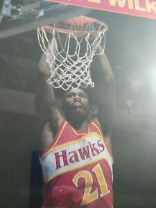 VINTAGE Atlanta Hawks Dominique Wilkins STARLINE POSTER 1988 😳 🏀 Hghlight 📽️
