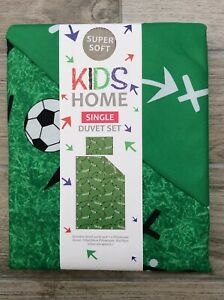 Football Kids Single Bedding Set New & Sealed Green