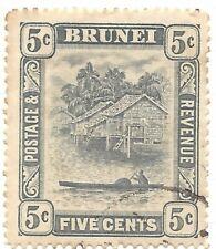 Brunei 1931 5c used S67