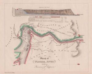 1832 Bouchette/Walker Map of the Niagara River
