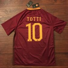 2016/17 Roma Home Jersey #10 TOTTI XL Camiseta Maillot Trikot Maglia Italy New