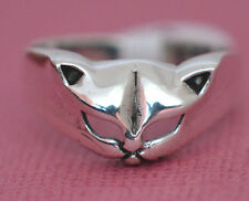 PRETTY KITTY CAT MASK Ring All Genuine Sterling Silver.925 Stamped Size 9