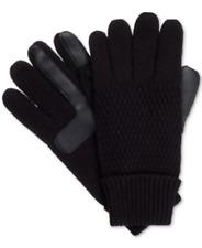 isotoner Signature Womens SmartDri Solid Textured Ski Gloves Black One Size