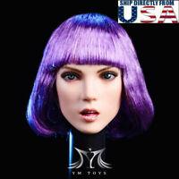 "1/6 Female Head Sculpt YMT025 A For 12"" Hot Toys PHICEN TBLeague Figure USA"