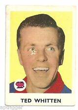 1965 Scanlens (2) Ted WHITTEN Footscray Very Good