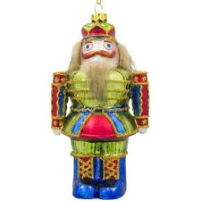 New Year Nutcracker Glass Christmas Ornament 5 Inches