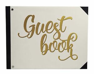 Darling Souvenir Beige Text Wedding Guestbook Hardbound Cover Printed-sY4
