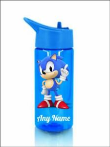 Sonic the hedgehog Personalised bottle childrens kids Pink or blue