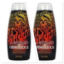 Ed Hardy OBNOXIOUS Hot Action Tingle Bronzer Tanning Lotion 2 BOTTLES