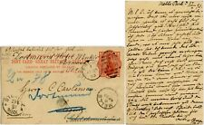 GB QV 1893 MELLS PARK FROME OVERSEAS STATIONERY 1d REDIRECT HOTEL WENKER GERMANY