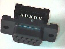 Sub-D-Buchse 9pol Schneidklemm für Flachkabel Vollkunststoff AMPLIMITE HDF-20