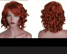 NWT Halloween Cosplay Wig Short Red Curly Hair + a wig cap