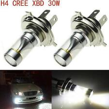 1x 30W Cree H4 9003 LED Headlight Hi Lo Beam 600LM Motorcycle 6000K White Bulb